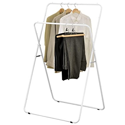 Amazon.com: MyGift 56-Inch Folding Metal A-Frame Garment Display ...