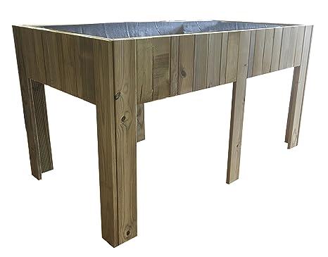 Grande Table de culture (potager urbain) en bois traité, 150 ...