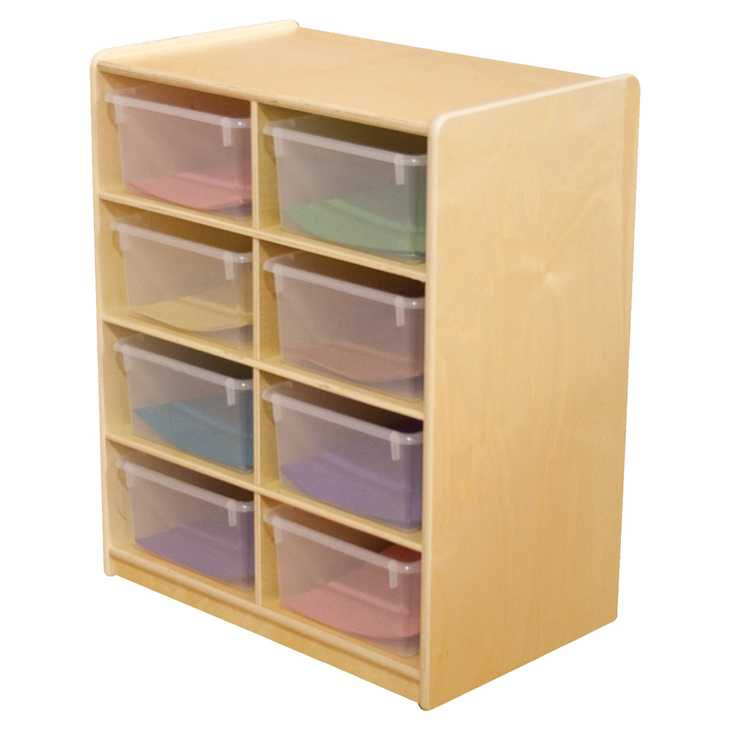Wood Designs (8) 5'' Letter Tray Storage Unit with Translucent Trays