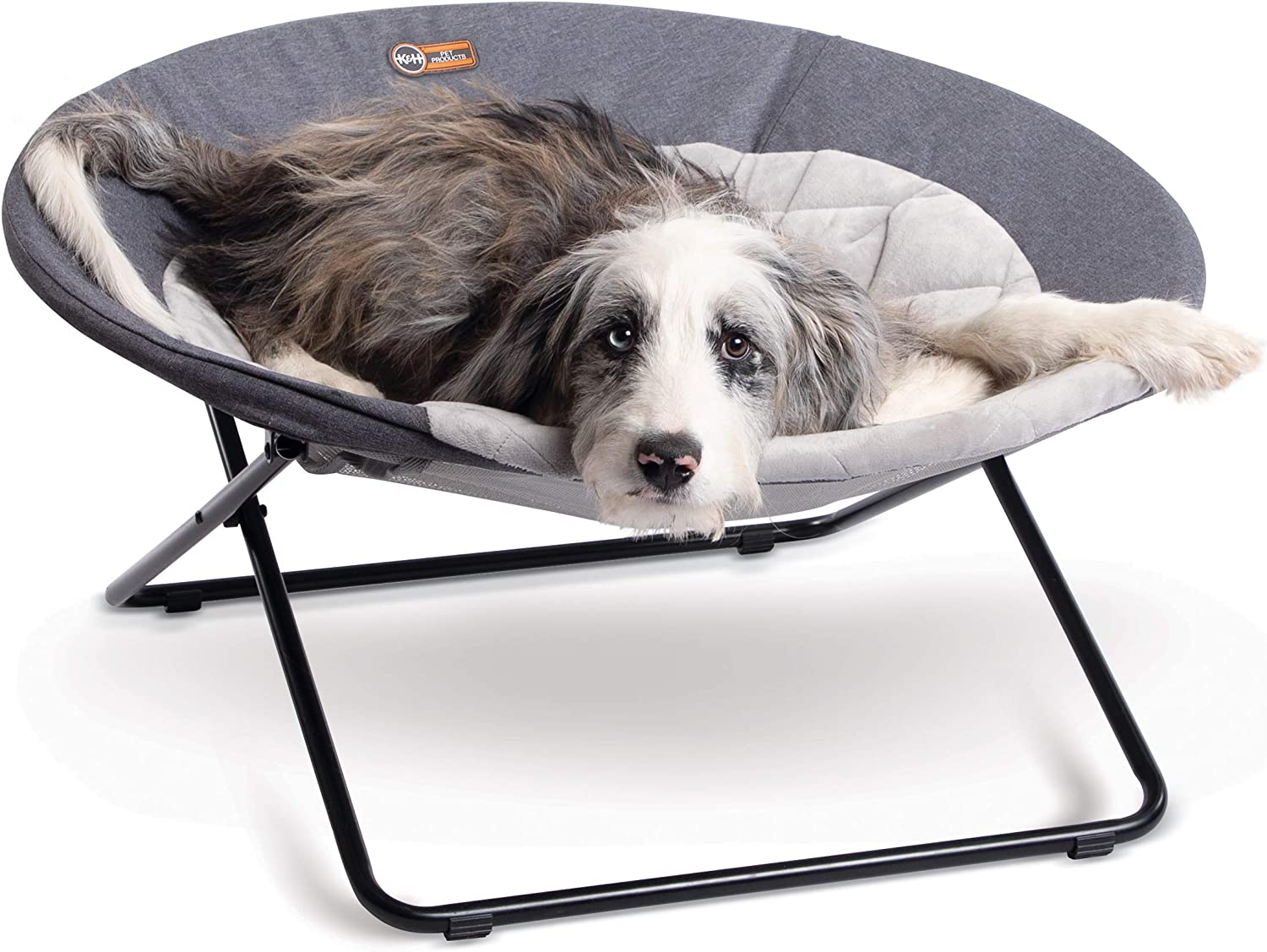 K&H PET PRODUCTS Cozy Cot Elevated Pet Bed, Dish Chair for Dogs and Cats, Machine Washable, Multiple Sizes and Colors