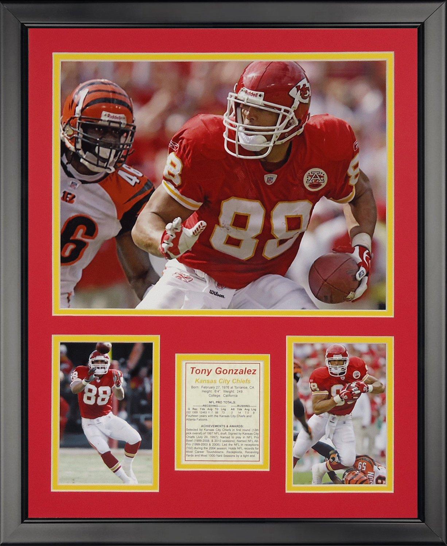 Amazon Legends Never Die Tony Gonzalez Framed Photo Collage 16 X 20 Sports Outdoors