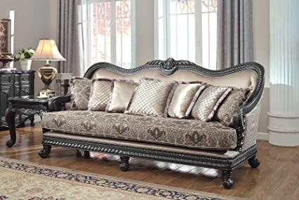 Meridian Furniture 618 S Florence Solid Wood Sofa With French Provincial  Handcrafted Designs And Imported
