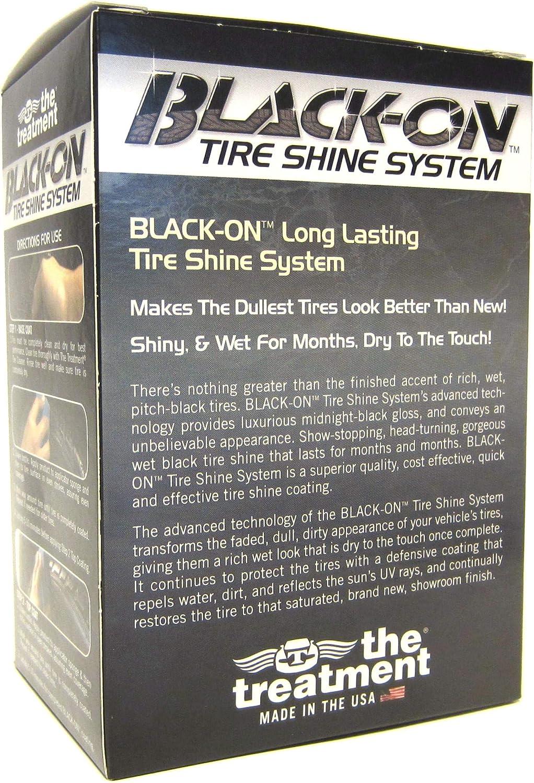 The Treatment Black-On 2 Step Ultimate Tyre Shine System DURADERO Rico Aspecto Mojado