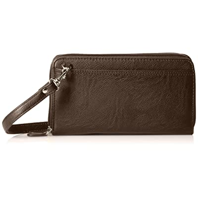 Buxton The Ultimate Double Zip Organizer, Brown: Clothing