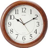 Seiko Wall Clock Quiet Sweep Second Hand Dark Brown Solid Oak Case