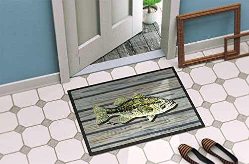 Caroline s Treasures 8493-JMAT Fish Bass Small Mouth Indoor or Outdoor Mat 24×36 8493 Doormat, 24H X 36W, Multicolor