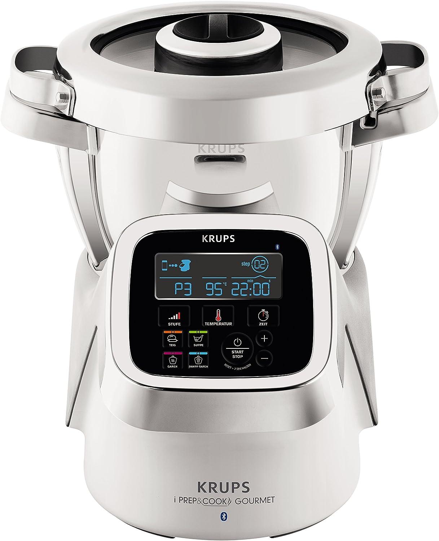 Krups IPrep & Cook XL Gourmet multifunción Robot de cocina con función de cocción y Bluetooth, 1550 W, color blanco/plata/acero inoxidable: Amazon.es: Hogar