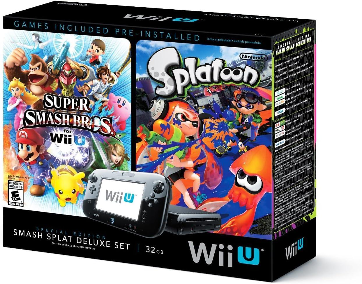 Amazon.com: Wii U Super Smash Bros and Splatoon Bundle Special Edition Deluxe Set (Certified Refurbished): Video Games