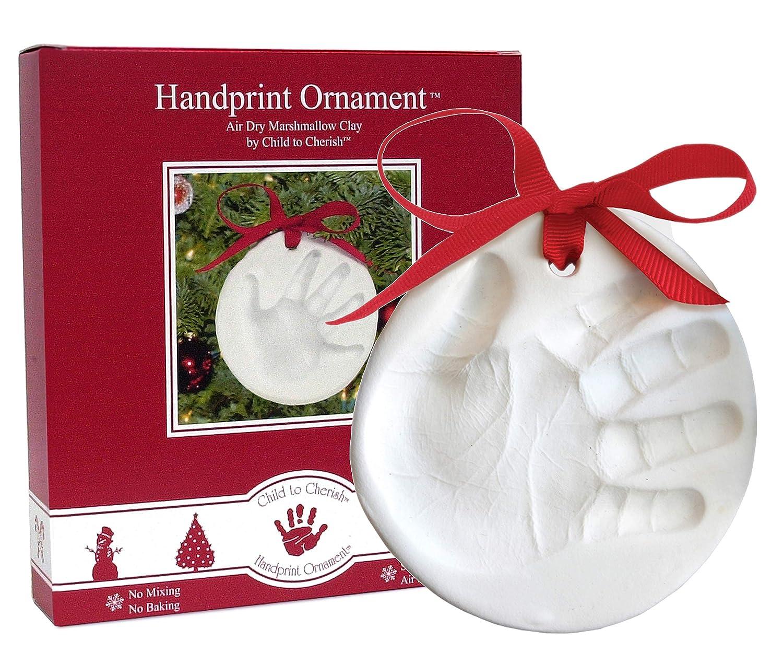 Amazon.com : Child to Cherish Marshmallow Clay Baby Handprint or ...