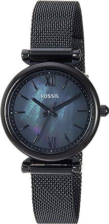 Amazon.com: Fossil Mini Carlie - Reloj de cuarzo para mujer ...