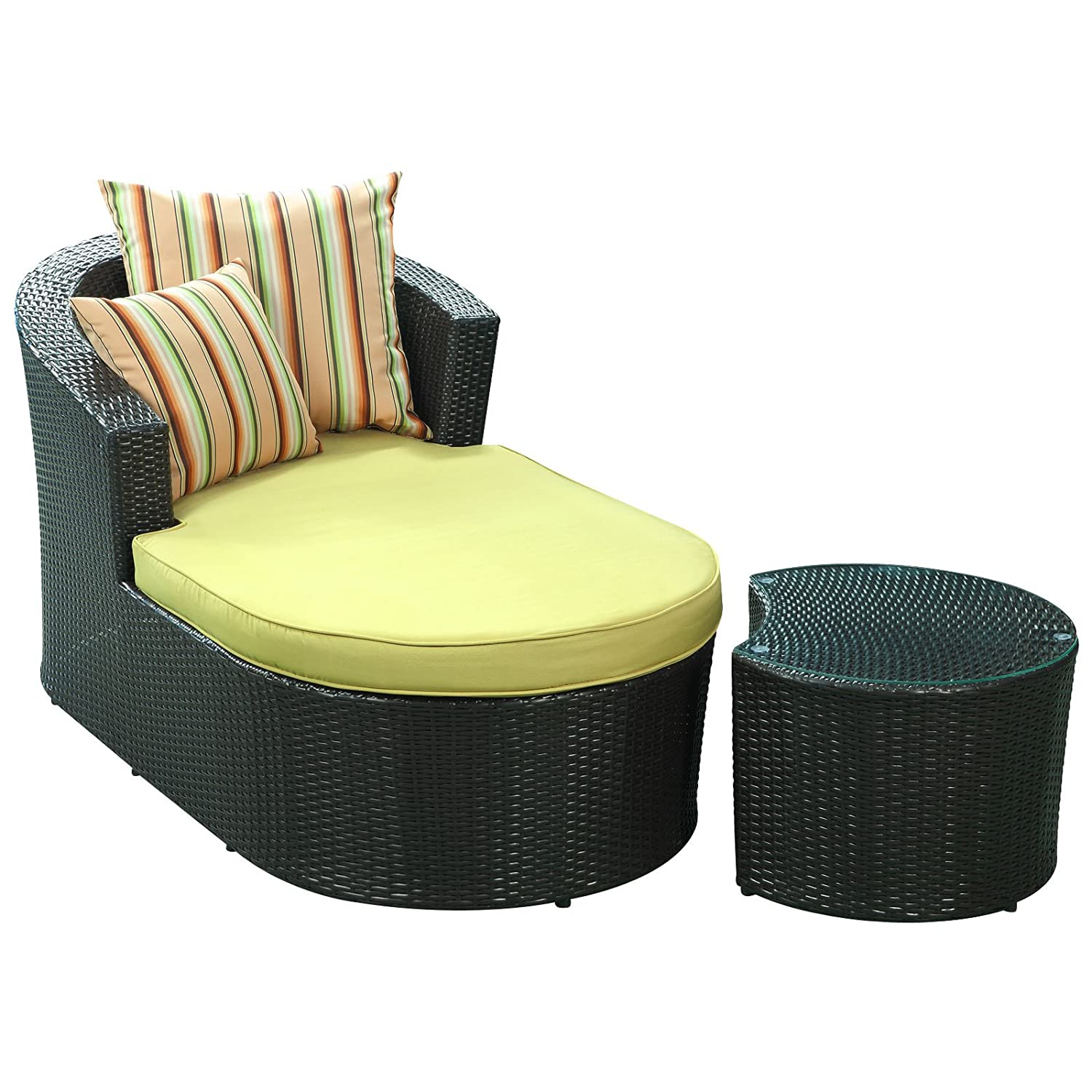 Amazon.com : Modway Camouflage Outdoor Wicker Patio Chaise Lounge 2 Piece  Set : Patio Lounge Chairs : Garden U0026 Outdoor