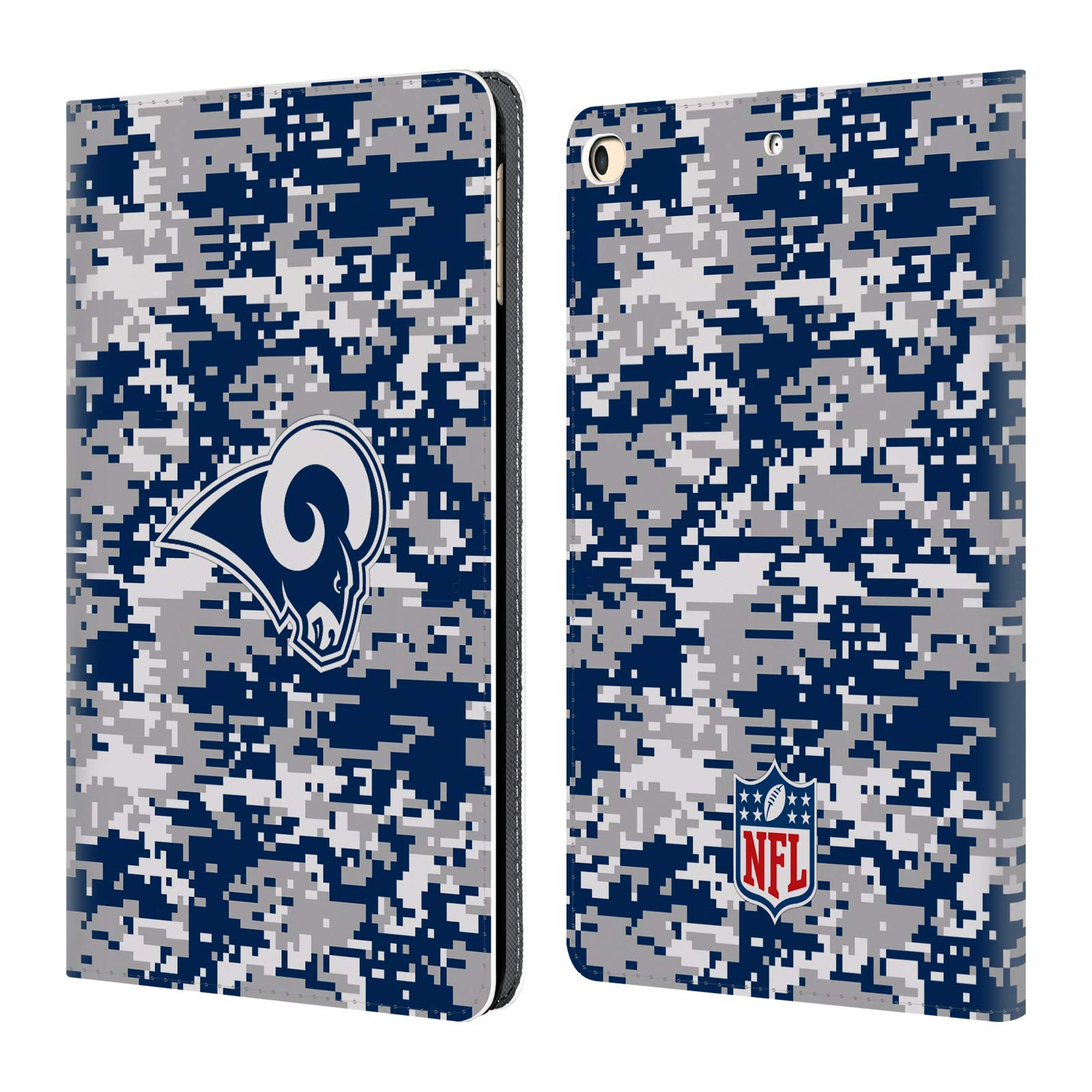 Official NFL Digital Camouflage 2018/19 Los Angeles Rams Leather Book Wallet Case Cover for iPad 9.7 2017 / iPad 9.7 2018