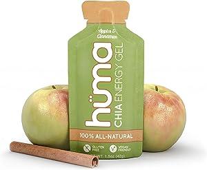 Huma Chia Energy Gel, Apples & Cinnamon, 12 Gels - Premier Sports Nutrition for Endurance Exercise
