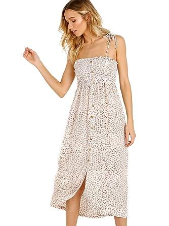 ec182fd6f36f2 Faithfull The Brand Suki Midi Dress Rae Floral Pink at Amazon ...