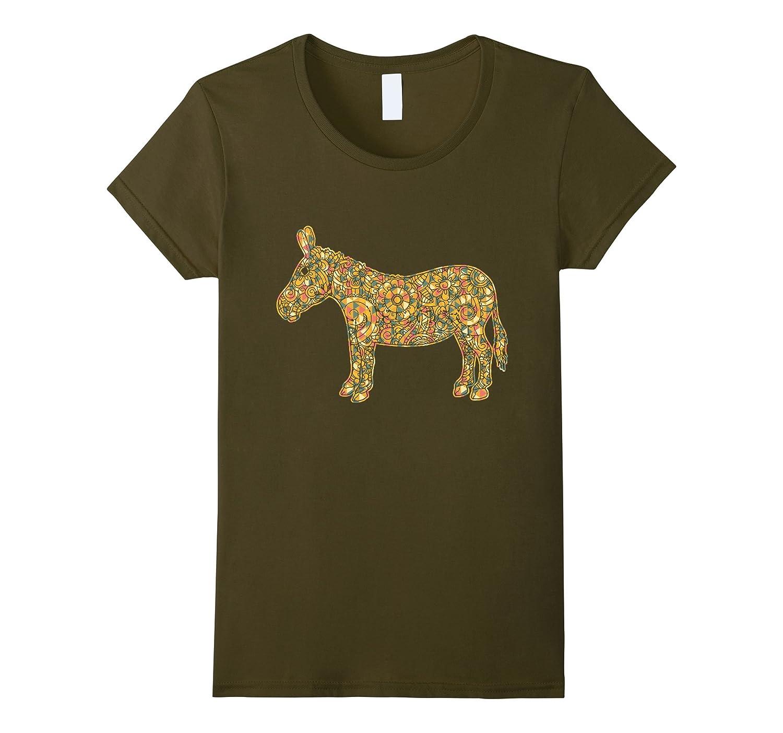 Womens Donkey shirt Geometric T shirt-Teesml