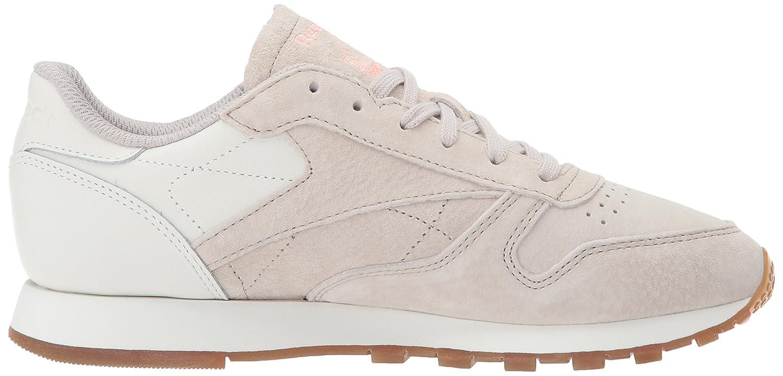 Reebok Women's CL Lthr Eb Fashion Sneaker B074V1QVCS 10 B(M) US|Sand Stone/Chalk/Sour Mel