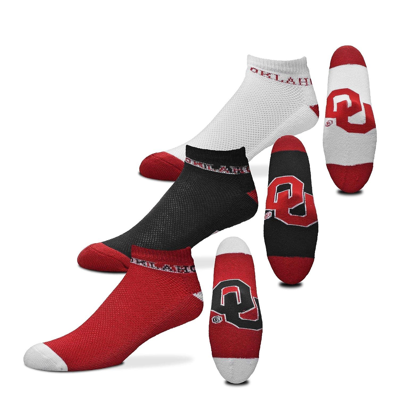For Bare Feet NCAA Mens Money Ankle Socks-3 Pack