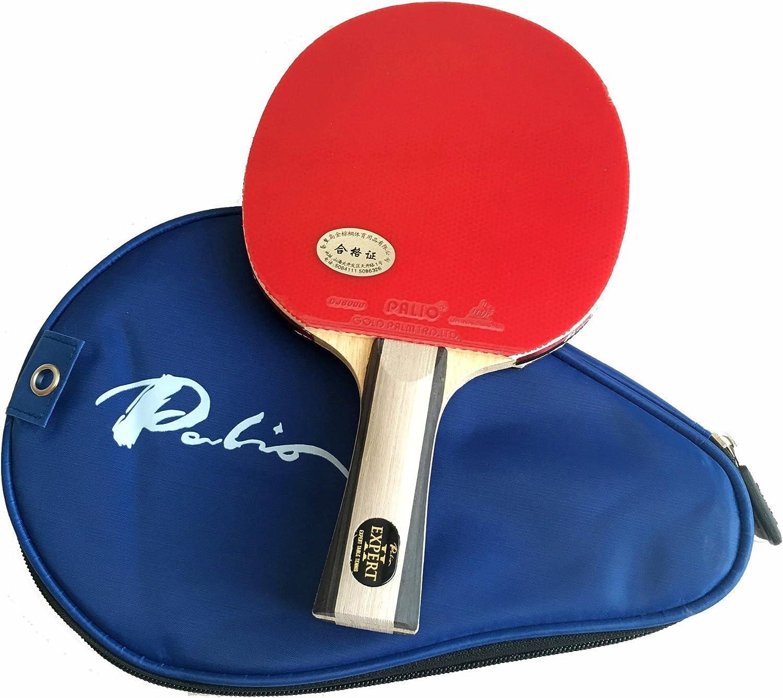 Palio Expert 2 Pala de Ping-Pong y Estuche