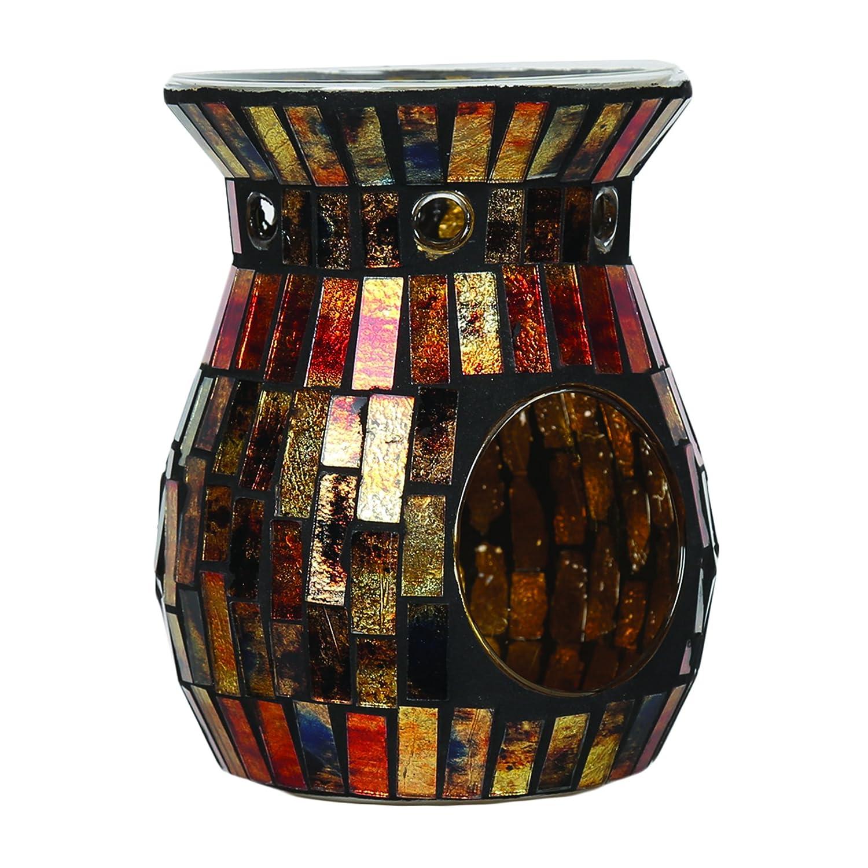 Aroma Accessories Mosaic Wax Melt Burner, Copper, 14 cm VC888