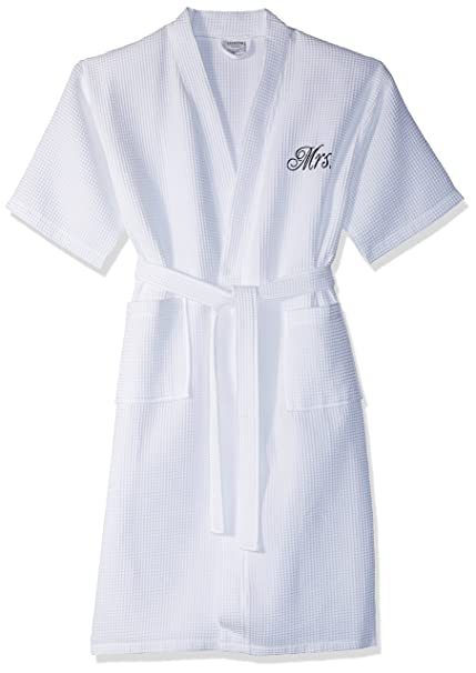 78289eaec4 Luxor Linens Mr. Waffle Weave Bathrobe - 100% Egyptian Cotton - Unisex One