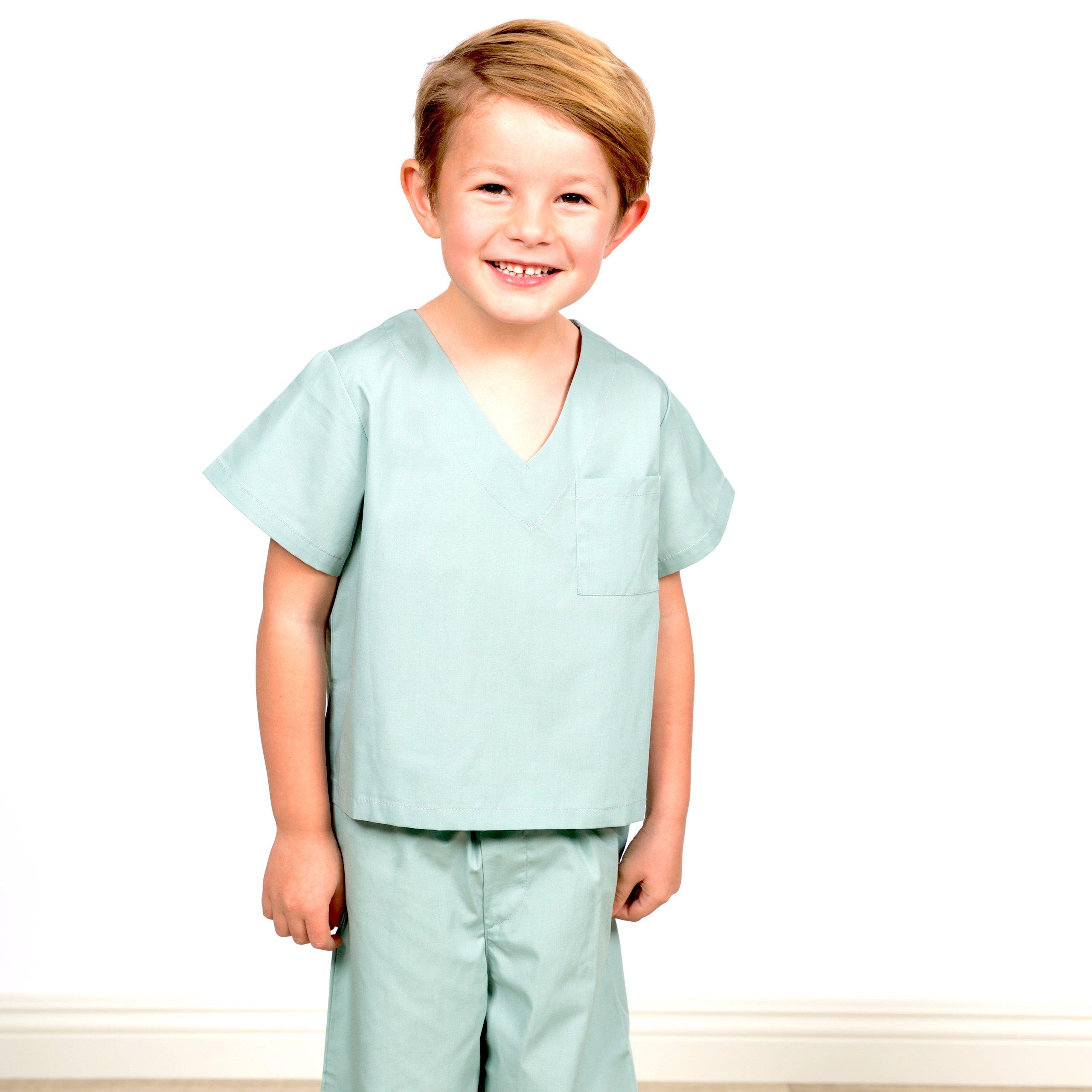 Big Imagination Co. Childrens Doctor Scrubs, Doctor Costume for Kids Age 2-6!