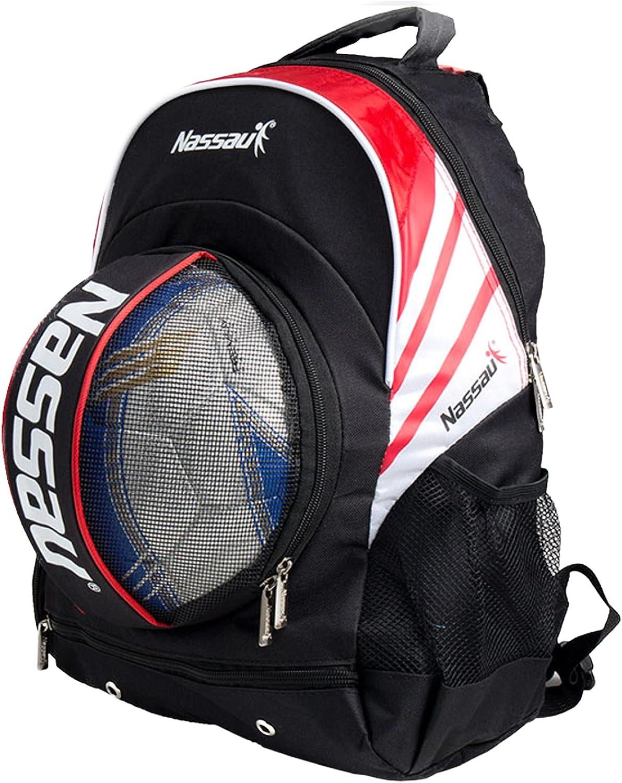 Nassauサッカーボールバッグ – バックパックレッド
