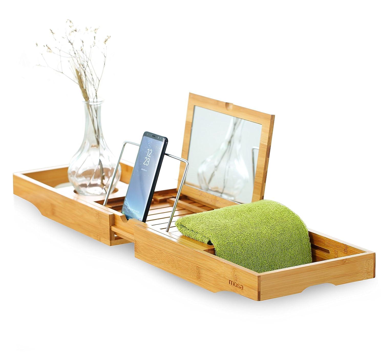 Mosa Natural Bamboo Bathtub Tray Bath Caddy Accessories, 27.6