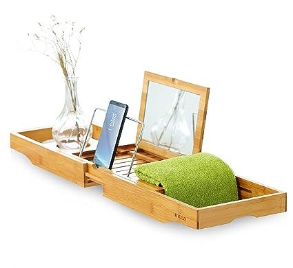 Amazon.com: Mosa Natural Bamboo Bathtub Tray, Extendable Wood ...