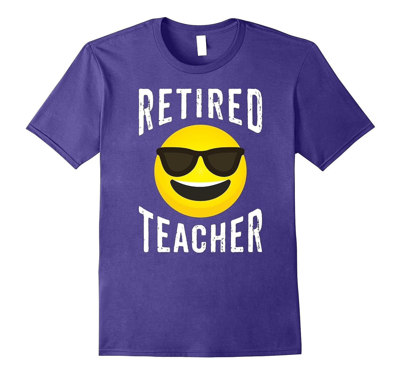 Retired Teacher Shirt - Cool Emoji Retired Teacher T-shirt-T-Shirt