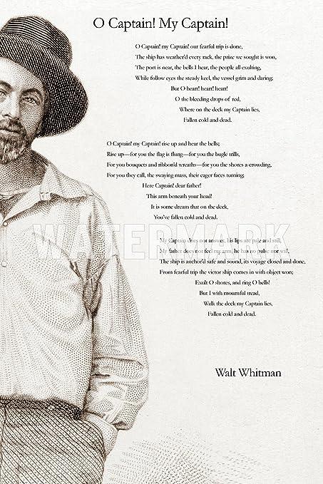 Walt Whitman Poem Print Póster Con Texto En Inglés O