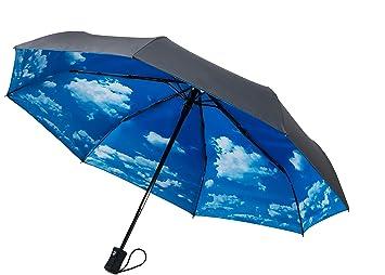 crowncoast 60 mph resistente al viento paraguas de viaje compacto