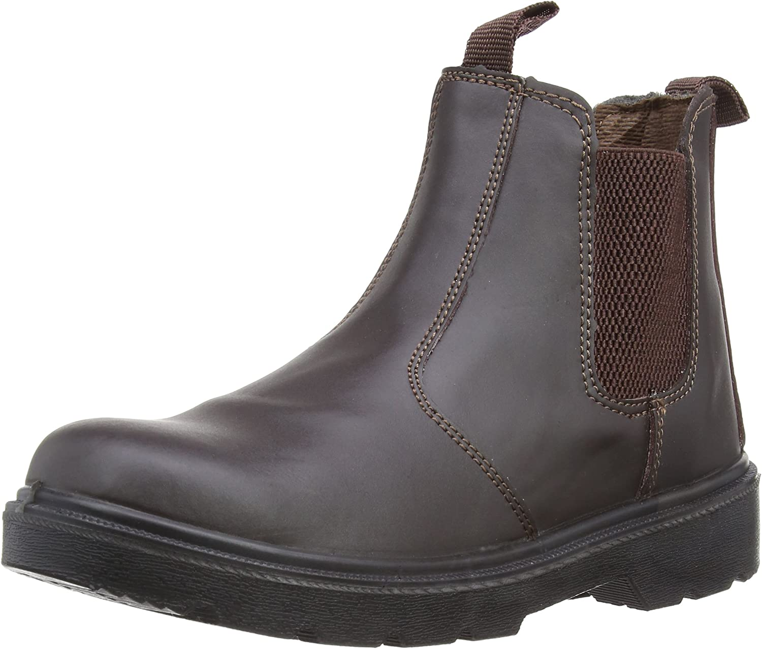 Work Steel Toe Boots Shoes Black