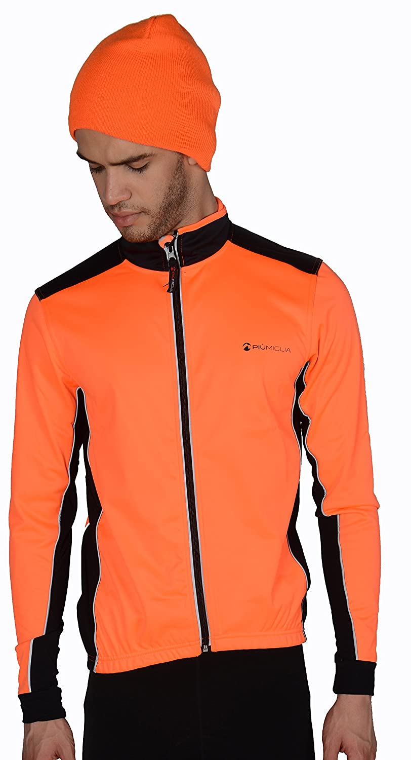 Clothing, Shoes & Accessories Piu Miglia Bari Soft Shell Mens Cycling Jacket Activewear