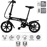 Nilox X2,  E-bike, Electric Bike, Citybike, Commuter Bike, Foldable Bike, Folding Electric Bike, 25 km/h Speed, Black