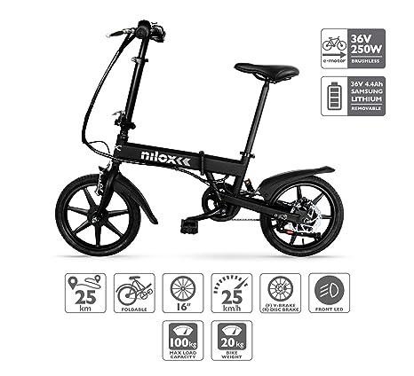 Nilox Doc X2 Bicicletta Elettrica E Bike Bicicletta A Pedalata Assistita Bicicletta Elettrica Pieghevoleruota 16 Motore 36v250 W Velocità