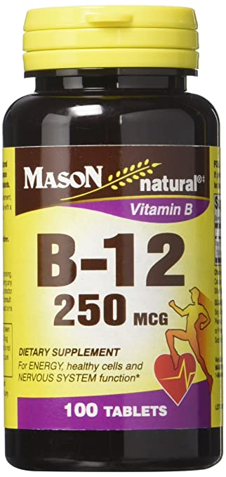 Amazon.com: Mason Vitaminas B 12 250 mcg pastillas, 60 Count ...
