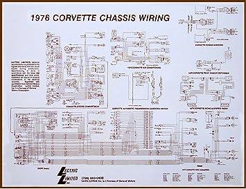 1969 corvette chassis wiring diagram amazon com 1975 corvette wiring diagram automotive  1975 corvette wiring diagram