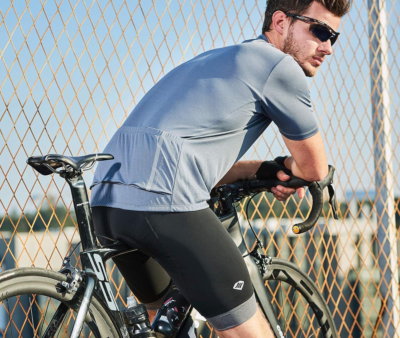 Santic Short de Cyclisme Homme 4D Rembourr/é VTT V/élo sous-V/êtements S/échage Rapide