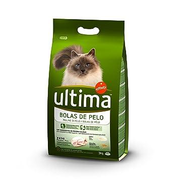 Ultima Pienso para Gatos para prevenir las Bolas de Pelo con Pavo - 3000 gr
