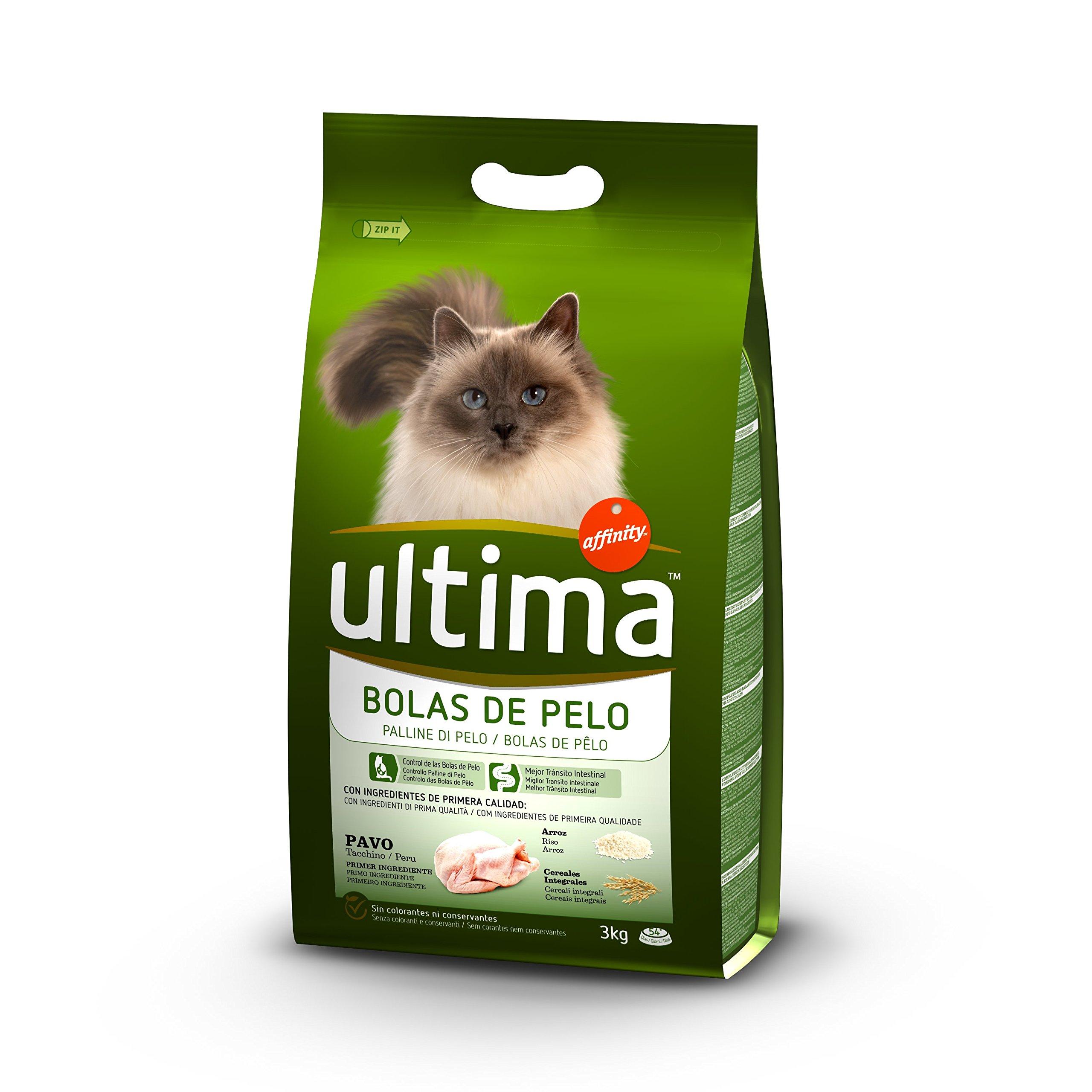 Ultima Pienso para Gatos para prevenir las Bolas de Pelo con Pavo - 3000 gr product