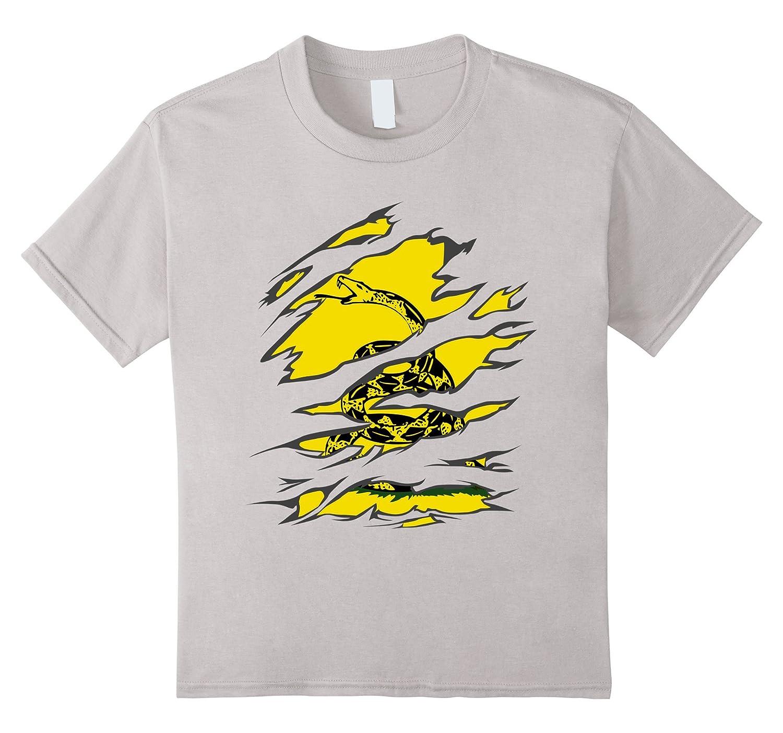 Gadsden Snake Under Ripped T Shirt-Awarplus