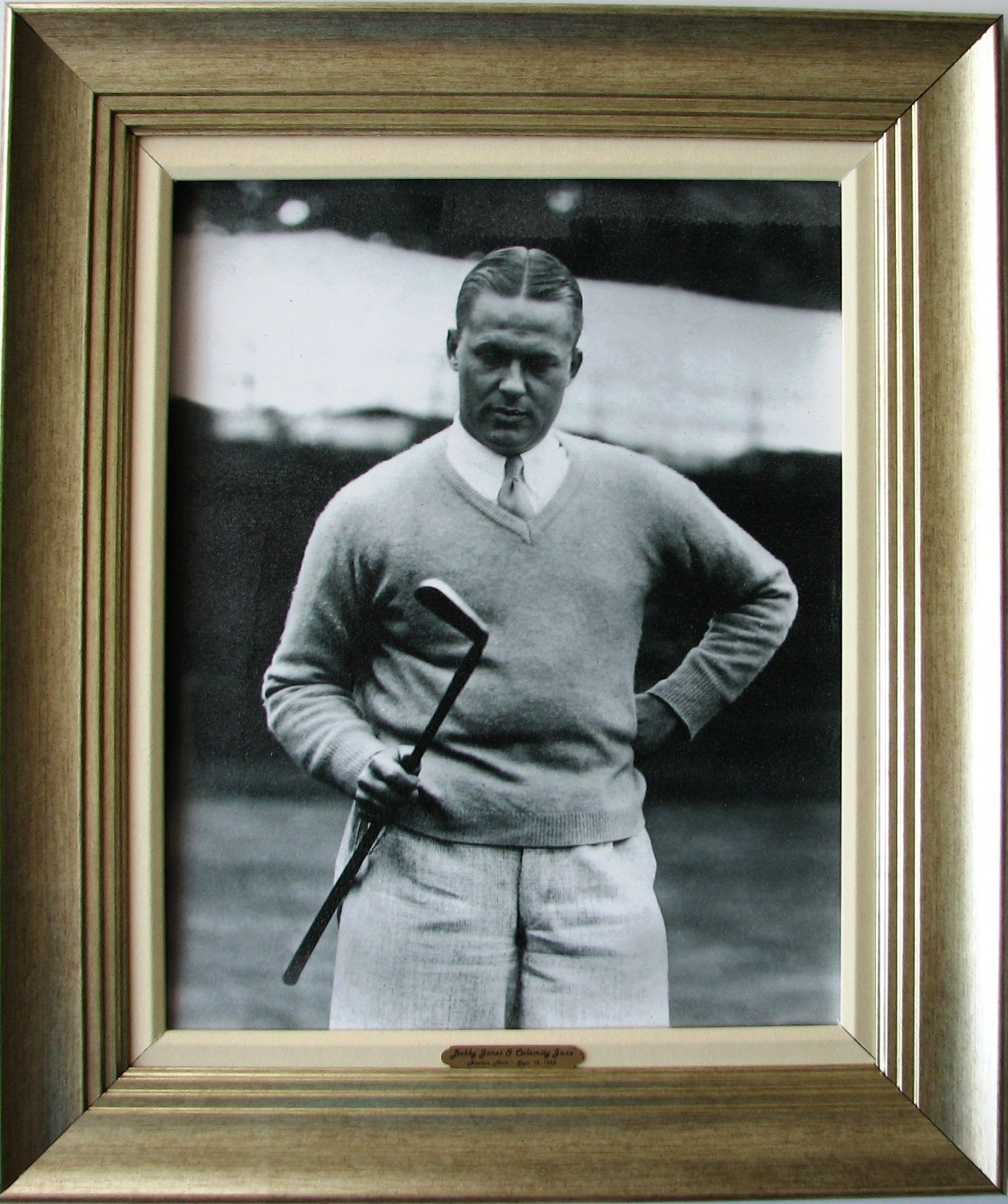 CGI Sports Memories Bobby Jones with His Putter Calamity Jane Photographic Print