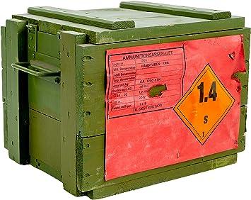 """Dänische Munitionskiste Box /""""4C2/"""" Holz-kiste-Truhe Schatzkiste Militärkiste"""