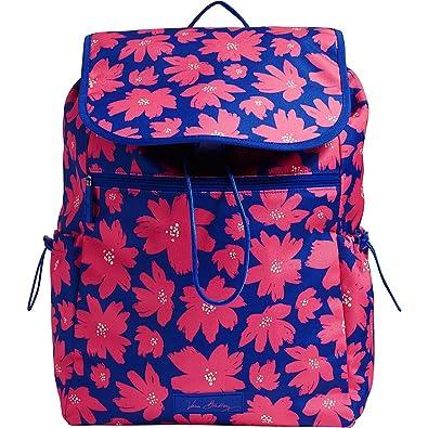 f3e36675162c Vera Bradley Women s Lighten Up Drawstring Backpack Art Poppies Backpack