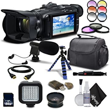 Amazon Com Canon Vixia Hf G21 Full Hd Camcorder 2404c002 Starting Out Bundle With Wide Angle Lens Filter Kit Mic Light Tripod And Much More Electronics