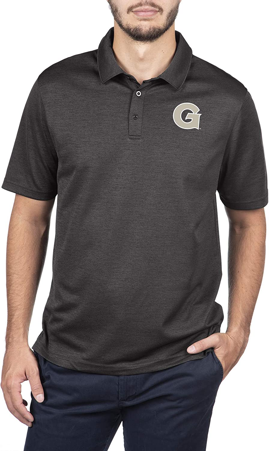 Top of the World NCAA Mens Dark Heather Carbon Polo