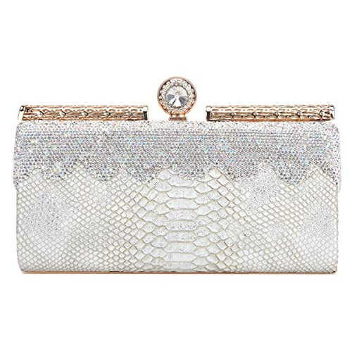 e701c8865c Fawziya Snake Pattern Bling Clear Rhinestone Clutch Hard Case Evening Bags  And Clutches For Women-