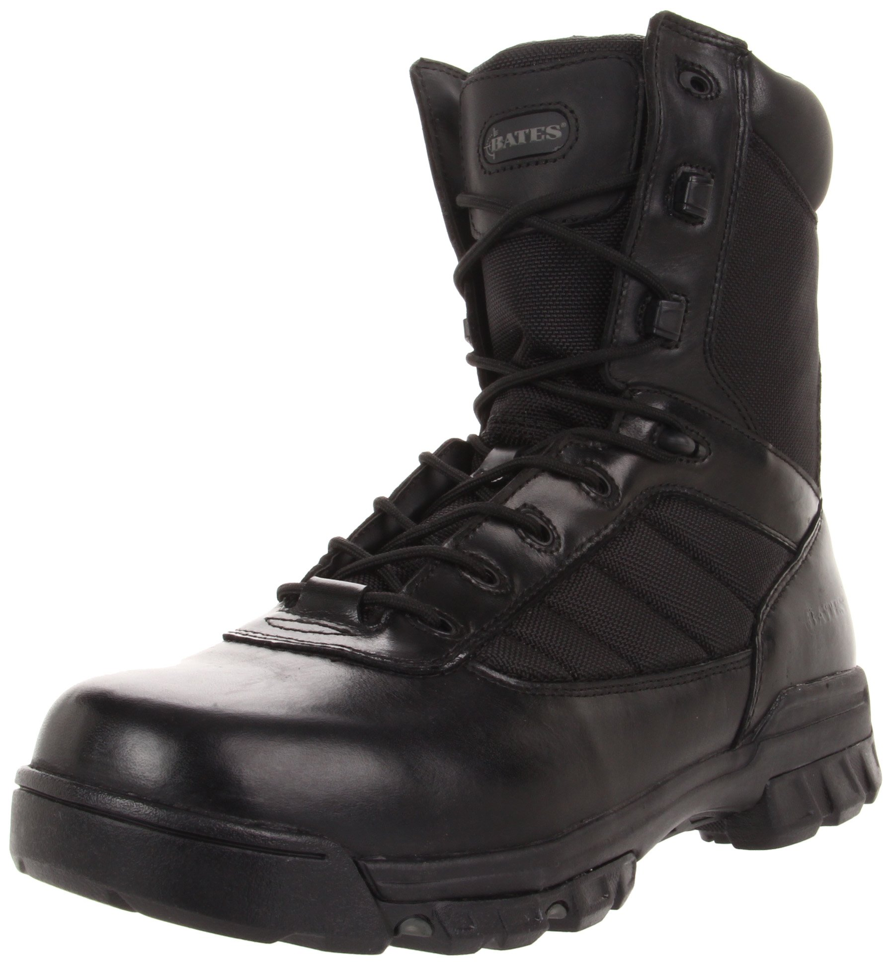 Bates Men's Ultra-Lites 8 Inches Tactical Sport Side Zip Work Boot,Black,7.5 EW US