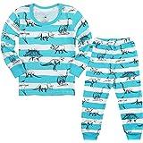 Qtake Fashion Jungen Schlafanzug Baumwolle Lange Herbst Winter Dinosaurier Kinder Pyjama