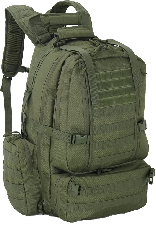 Explorer M2 日常使いのデラックスキャリー 軍隊の衛生兵用 軍医用 病院タクティカルバックパック 20 x 13 x 6インチ  OD GreenB12 B07D427ZYV